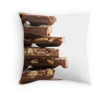 Chunky Nut Chocs Throw Pillow