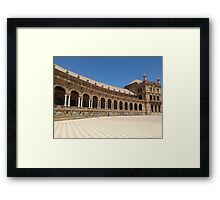Plaza de Espana Sevilla Framed Print