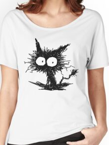 Black Unkempt Kitten GabiGabi Women's Relaxed Fit T-Shirt