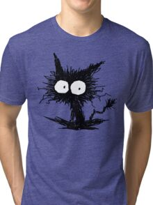 Black Unkempt Kitten GabiGabi Tri-blend T-Shirt