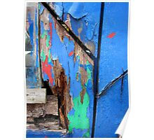 colourful rotting door frame Poster