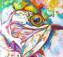 Tarpon Dreams - Colorist Marine Wildlife Painting By Savlen by Mike Savlen