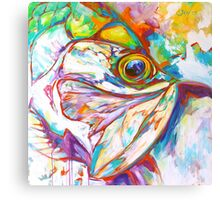 Tarpon Dreams - Colorist Marine Wildlife Painting By Savlen Canvas Print