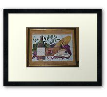 Wine and cheese Framed Print