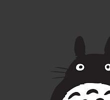 Hiding Totoro by evarose26