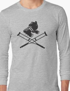 Roller Derby Crutches Long Sleeve T-Shirt