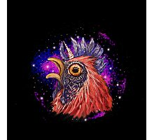 This Chicken has seen things.. Photographic Print