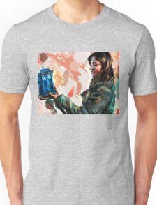 Clara Oswald and The Tiny TARDIS Unisex T-Shirt