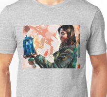 Clara Oswald and The Tiny TARDIS Unisex T-Shirt