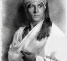 Rudolph Valentino by John Springfield by esotericaart