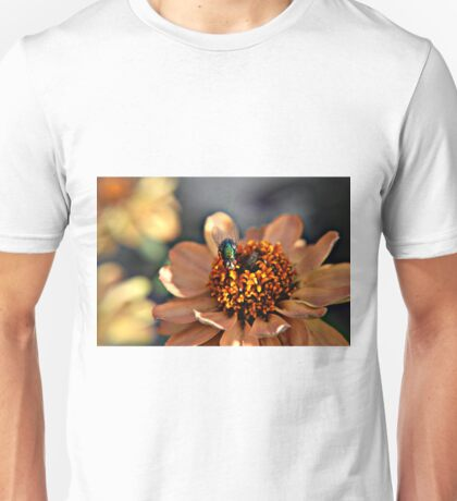 Macro of fly on flower Unisex T-Shirt