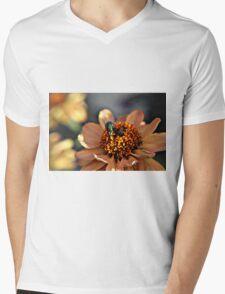 Macro of fly on flower Mens V-Neck T-Shirt