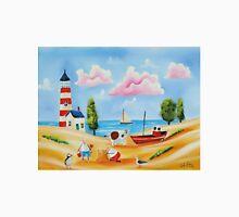 Lighthouse beach scene with animals Unisex T-Shirt