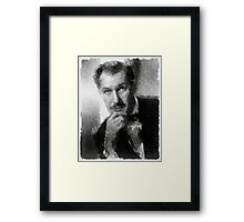 Vincent Price by John Springfield Framed Print