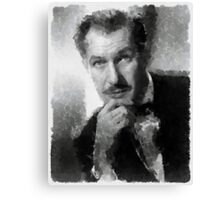 Vincent Price by John Springfield Canvas Print