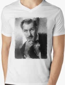 Vincent Price by John Springfield Mens V-Neck T-Shirt