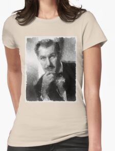 Vincent Price by John Springfield Womens Fitted T-Shirt