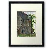 Neighbor Don's Old Barn 3 Framed Print