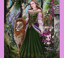 Queen of lions fairy fantasy,medieval lady  by gabo2828