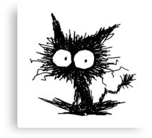 Black Unkempt Kitten GabiGabi Canvas Print