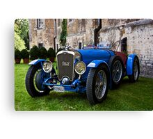 French Racing Blue Canvas Print