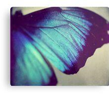 Black and Blue Wing Metal Print