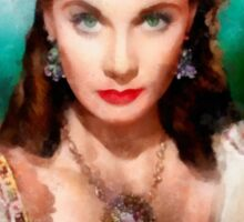 Vivien Leigh by John Springfield Sticker