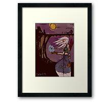 A Fairy And warrior Framed Print