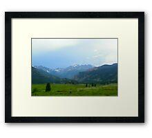 Mountain in RMNP Framed Print