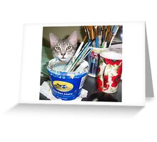 Mimi, the Painter.... Assistant  Greeting Card