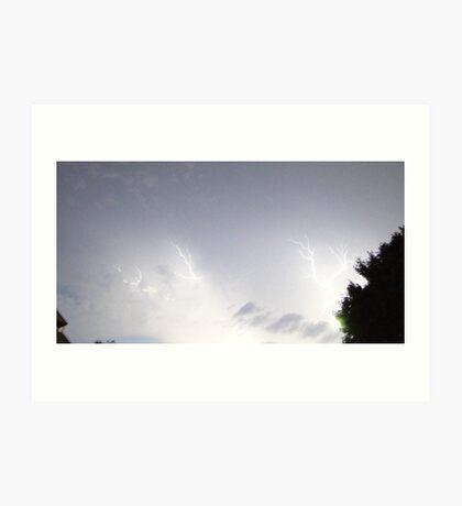 Summer Lightning Storm Art Print