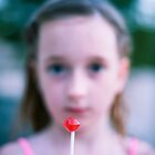Red lollipop by Sharonroseart