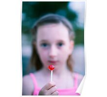 Red lollipop Poster