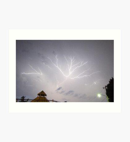 Summer Lightning Storm 5 Art Print