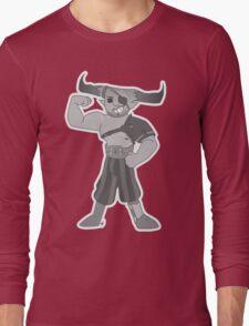 Vintage cartoon Iron Bull Long Sleeve T-Shirt