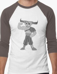 Vintage cartoon Iron Bull Men's Baseball ¾ T-Shirt