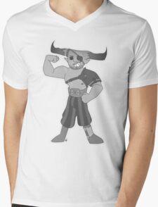 Vintage cartoon Iron Bull Mens V-Neck T-Shirt