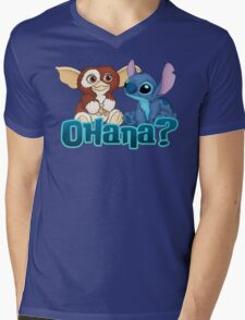 Gizmo and Stitch Mens V-Neck T-Shirt