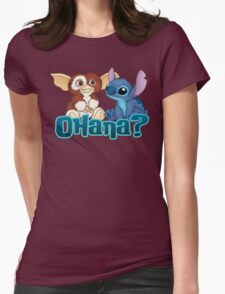 Gizmo and Stitch Womens Fitted T-Shirt