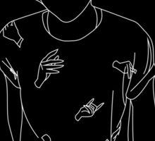 Harry Syles Hands Black/White Sticker
