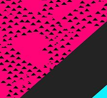 Modern Triangles and Color Blocks by Blkstrawberry