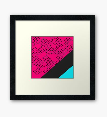 Modern Triangles and Color Blocks Framed Print
