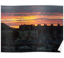Weymouth Harbour Sunset  Poster