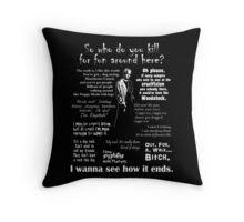 Spike in his own words (white) Throw Pillow
