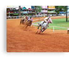 Quarter Horse Racing at the Neshoba County Fair  Canvas Print