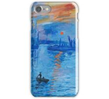Impression, Sunrise Monet painting Soleil Levan iPhone Case/Skin