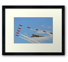 The Red Arrows with Avro Vulcan XH558 Framed Print