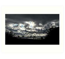 Inch Island Clouds...........................Ireland Art Print