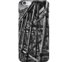 Noojee Trestle Bridge BW iPhone Case/Skin