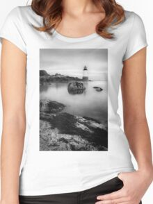 LIghthouse in Salem, MA Women's Fitted Scoop T-Shirt